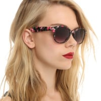 Pink Floral Cateye Sunglasses