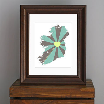 St Patricks Day  Ireland Love Art Print  Home is by CisforColor