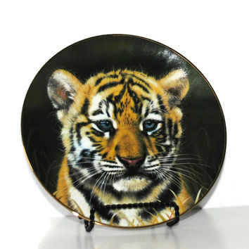 Tiger Cub Collector Plate from The Cubs of the Big Cats Plate Collection - (#100.35)