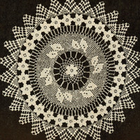 Instant Download 1953 Crochet Pattern Rose and Filet Extravaganza Doily