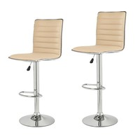 Goobies Beige Swivel Bar Stools (Set of two)