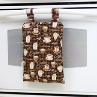 Kitchen Wet Bag, Coffee Cafe Wetbag, Unpaper Towel Bag, Laundry Bag, Hanging Wet Bag, Waterproof Kitchen Towel Bag