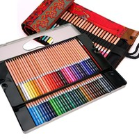 Hydrotropic 72 48 prismacolor colored pencils professional brushes drawing pen tin lapices de colores