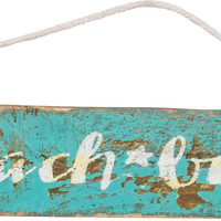 Beach Bum - Weathered Beach Décor Hanging  Sign  10-in