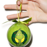 Vandor The Grinch Ball LED Ornament Green One