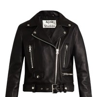 Mock leather biker jacket | Acne Studios | MATCHESFASHION.COM US