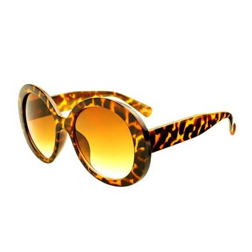 Womens Oversized Round Sunglasses Tortoise O272