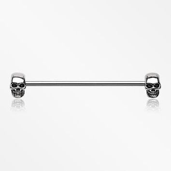 Apocalyptic Skull Industrial Barbell