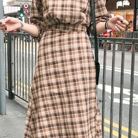Plaid Dress (2Pcs)