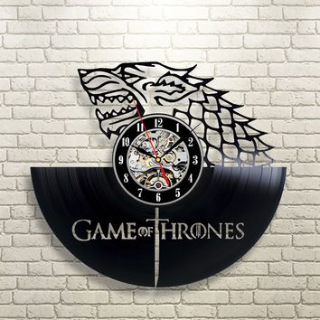 GAME OF THRONES  VINYL RECORD WALL CLOCK UNIQUE DESIGN