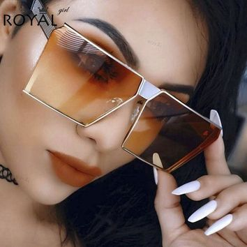 VONESC6 ROYAL GIRL 2017 New Color Women Sunglasses Unique Oversize Shield UV400 Gradient Vintage eyeglasses frames for Women #ss953