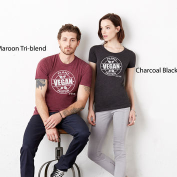FTLA Apparel - Unisex Triblend Jersey Tee - Vegan Plant Protein