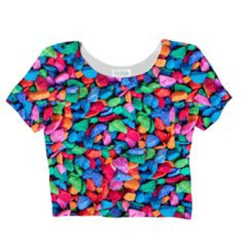 Candied Rocks Sublimated Crop Top