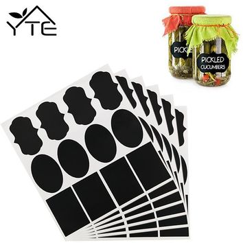 36pcs Waterproof Mason Jar Bottle Stickers Labels Home Kitchen Jars Stickers Chalkboard Lables Tags Can Be Reused 3 Style