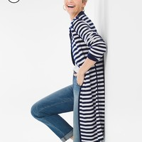 Chico's Petite Solid-Striped Reversible Cardigan
