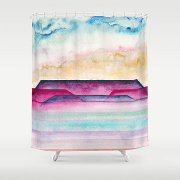 A 0 34 Shower Curtain by Marco Gonzalez