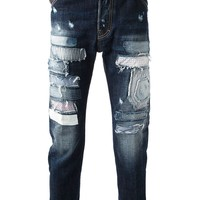 DSQUARED2 patchwork jeans
