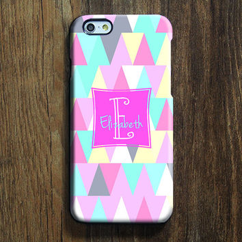 Pastel Color Triangle  iPhone 6 Case iPhone 6 plus Case Custom iPhone 5S Case iPhone 5C Case iPhone 4S Geometric Galaxy S6 Edge S5 Case 124