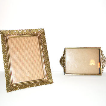Vintage Gold Picture Frames Ornate Picture Frames Neoclassical Home Décor Hollywood Regency Picture Frames Wedding Picture Frames