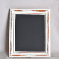 Shabby Chic White Wooden Distressed Chalkboard