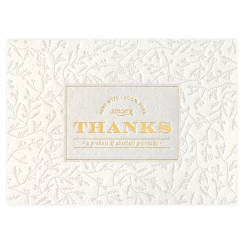 Apertif Folded Thank You Cards Boxed
