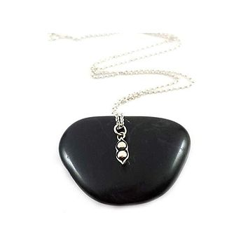 Two Pea Pod Necklace - Sterling Silver Jewelry