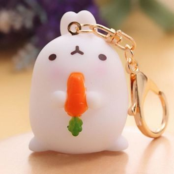 Cute Animal Ornaments Bunny Rabbit Car-styling Decoration Key chain Bag Hanging Accessories Key