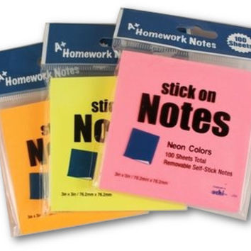 sticky notes - neon colors Case of 48