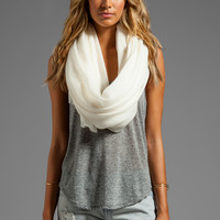 DemyLee Cashmere Woven Scarf in Ivory from REVOLVEclothing.com