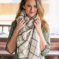 Blanket Scarf - Cream