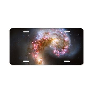 BRIGHT NEBULA GALAXY SPACE ALUMINUM LICENSE PLATE