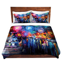 Duvet Cover collaboration between Aja and DiaNoche Designs, King, Queen, Twin, Toddler, Midnight Harbor XIX