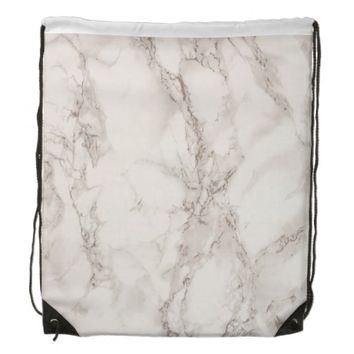 Marble Stone Drawstring Backpack
