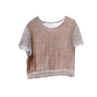 GAUZE T-SHIRT brown by HALOLABELS