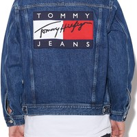 HILFIGER DENIM TOMMY JEANS FLAG DENIM JACKET DENIM
