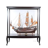 Display Case for XL ship no Glass Hancrafted Display Cases