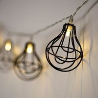 String of Lights with Light Bulb Wire Cage - Battery LED (Pack of 1)