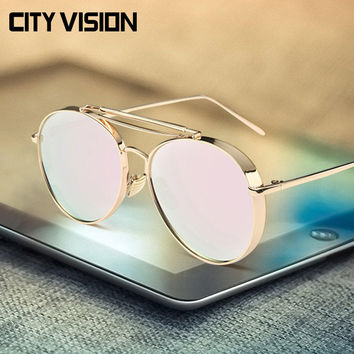 Pink Aviator Sunglasses Women Brand Designer UV400 Shades Golden Eyewear Female Metal frame pilot Sun glasses for Men New Oculos