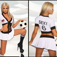 Hot Deal On Sale Sexy Cute Games Uniform Set Cosplay Costume Exotic Lingerie [6580696007]