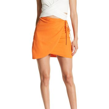 dee elly | Side Tie Solid Skirt | Nordstrom Rack