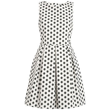 Buy Almari Spot Dress, Black/White online at John Lewis