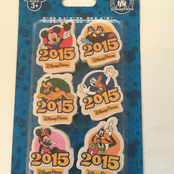 disney parks erasers collector pack 2015 character pack new sealed