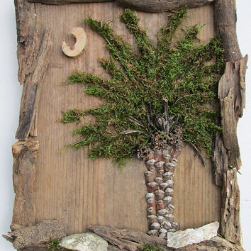 South Carolina SC Palmetto Tree Art Wall Hanging