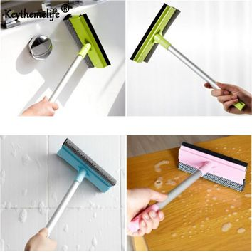 Keythemelife Window Glass Wiper Sponge Cleaner Washing cleaning for car Anti-slip Adjustable Long Handle Brush CA