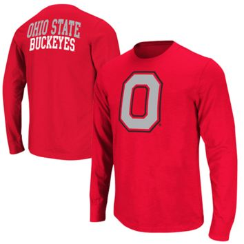 Ohio State Buckeyes Touchdown Long Sleeve T-Shirt - Scarlet