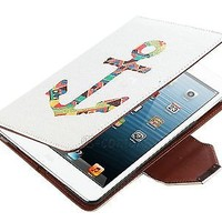 For Apple iPad Mini 360 Rotating PU Leather Stand Case Smart Cover w/ Protector