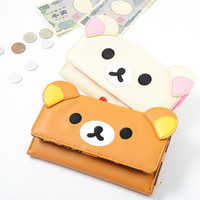 Rilakkuma Face Long Wallet