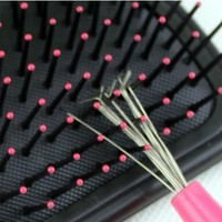 Generic Durable Pink Handle Hair Brush Comb Cleaner Cleaning Remover Embedded Tool