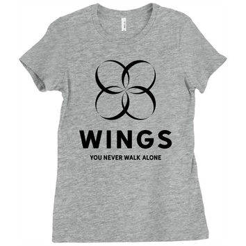 BTS Wings Ladies Fitted T-Shirt