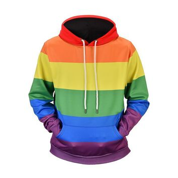 Hoodie rainbow Colored